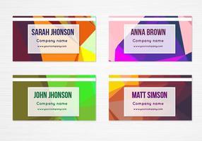Cartes de visite géométriques colorées gratuites