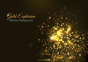 Gold Explosion Vector Background