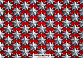 Vector Background With Silver 3D Stars Pattern sans couture