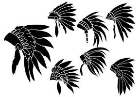 Indisk Headdress Vector