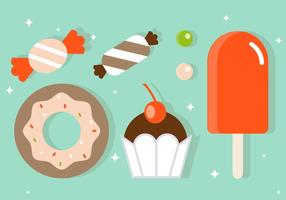 Free Flat Sweets Vector Illustration