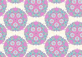 Modèle coloré de mandala coloré rose