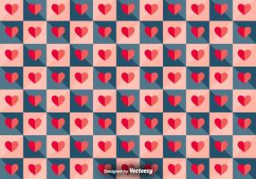 Vector Patrón de mosaico con corazones de papel
