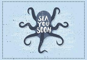 Gratis Vintage Octopus Vektor Illustration