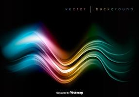 Vector Colorful Wave On Black Background