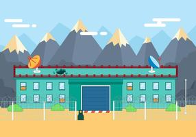 Free Flat Secure Building Illustration Vectorisée
