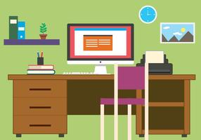 Gratis Business Office Vector Illustration