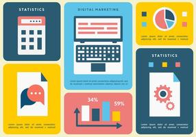 Gratis Flat Digital Marketing Vector Illustration