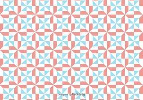 Vector simple patrón con rojo y azul figuras geométricas