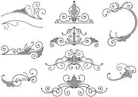 Vintage Ornamente Vektoren