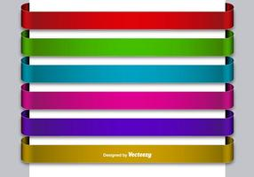 Set Of 6 Metallic Colorful Blank Banners vector
