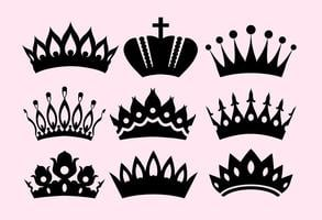 Vector Icons Of Crowns