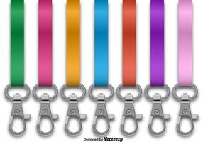 Vector Set Of Lanyards