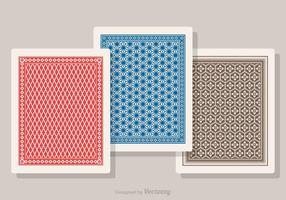 Free Playing Card Back Vector Set