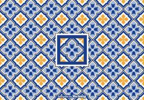 Gratis Vector Geometrisk Azulejo Pattern