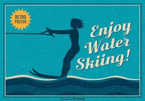 Gratis Enjoy Water Skiing Vector Poster