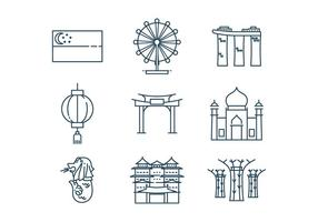 Gratis Singapore Icon Vector