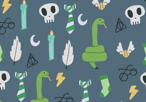 Hand drawn snakes and sorcerer pattern