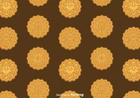 Free Mooncake Vector Seamless Pattern