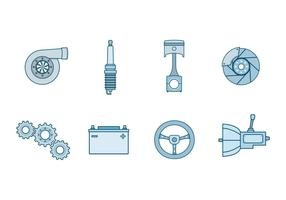 Gratis Automotive Parts Vector