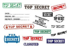 Vektorgrafik Top Secret Stempel