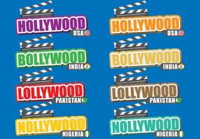Film Cities Titles vector
