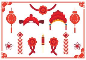 Chinese Wedding Element  vector