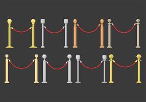 Ícones vetoriais de cordas de veludo