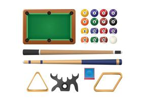 Free Realistic Billiard Vector