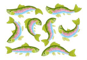 Rainbow Trout Icons