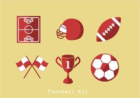 American Football Icons Vector