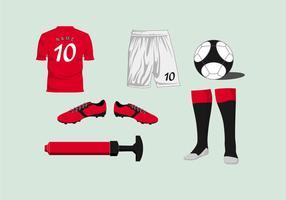 Vetor kit de futebol