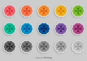 Maltese Cross Vector Badges