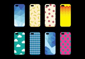 Free Set of Phone Case Vector