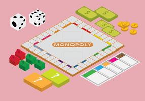 Free Isometric Monopoly Games Vector