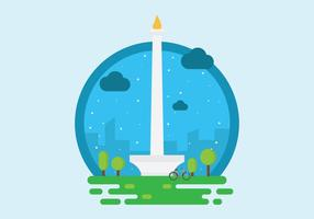Free Monas or National Monument Tower Illustration Vector