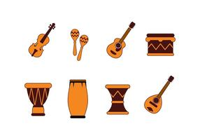 Free Musical Instrument and Percussion Icons Vector