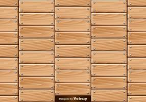 Vector Seamless Pattern Of Wooden Planks With Nails