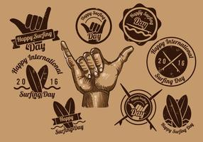 Shaka Vintage Label vector
