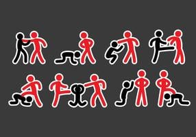 Bullying Icons vector