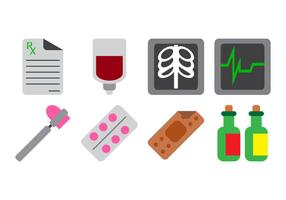 Vetor grátis de ícones de cuidados de saúde