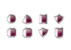 Vecteur d'emblème de drapeau de Qatar