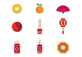 Free Chinese New Year Icons Vektor
