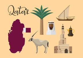 Qatar Travel Icon Vector