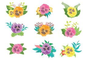 Free Pansy Icons Vector