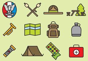 Iconos lindos del explorador de muchacho