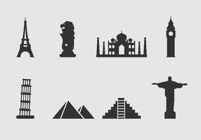 Freies Wahrzeichen der Welt Icon Vektor
