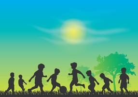 Día De Los Niños Silueta Vector