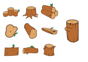 Houten Log Vector Pack