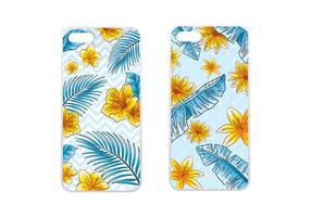 Caso de telefone Tropical Blue Vector